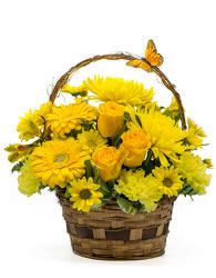 Basket of Sunshine from Scott's Flowers on the Square in Stephenville, TX